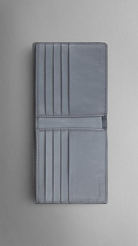 Mid grey melange Dégradé Lizard Folding Wallet - Image 3