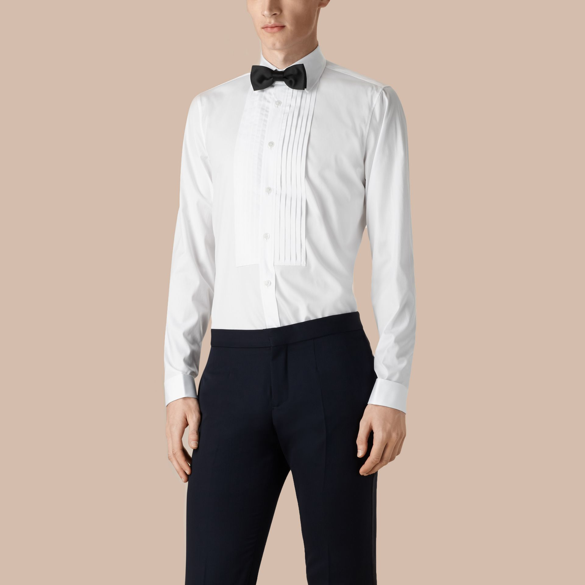 Optic white Cotton Dress Shirt - gallery image 1