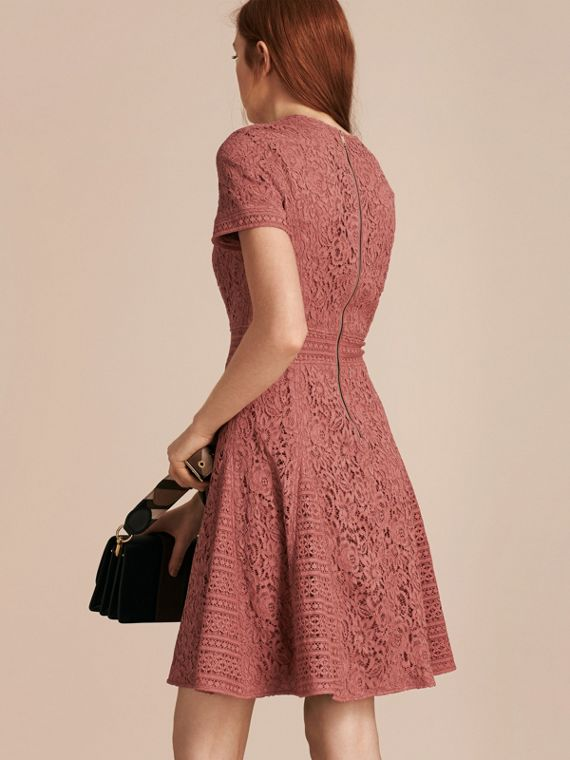 Mauve pink Italian Lace A-line Dress - cell image 2
