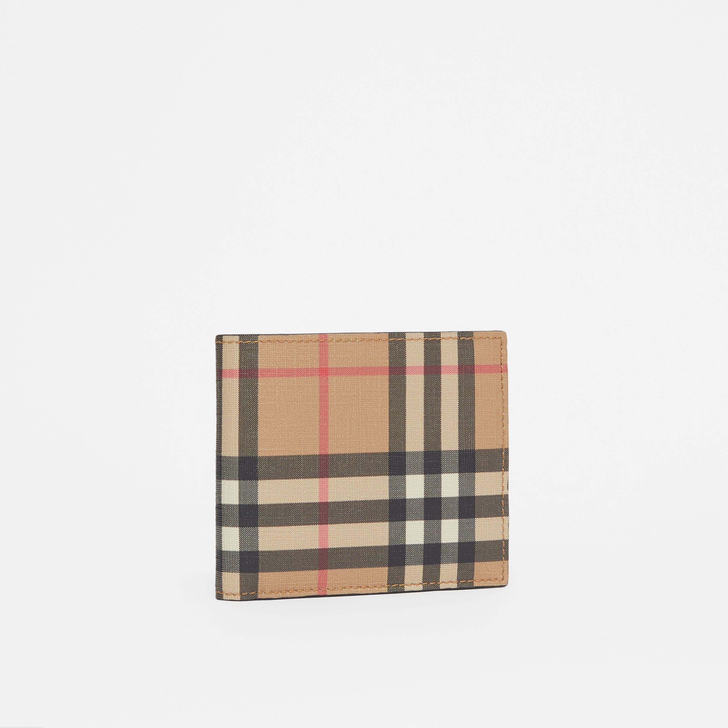 Vintage Check International Bifold Coin Wallet in Archive Beige - Men | Burberry - 4