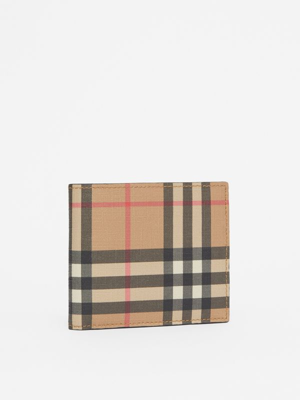 Vintage Check International Bifold Coin Wallet in Archive Beige - Men | Burberry - cell image 3