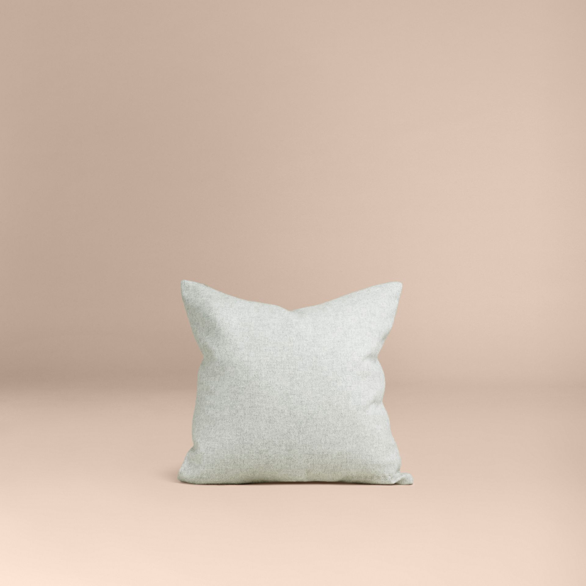 Pale grey Cashmere Cushion Cover - gallery image 3