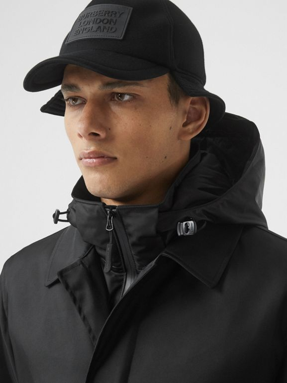 Nylon Car Coat with Detachable Hooded Warmer in Black - Men | Burberry United Kingdom - cell image 1