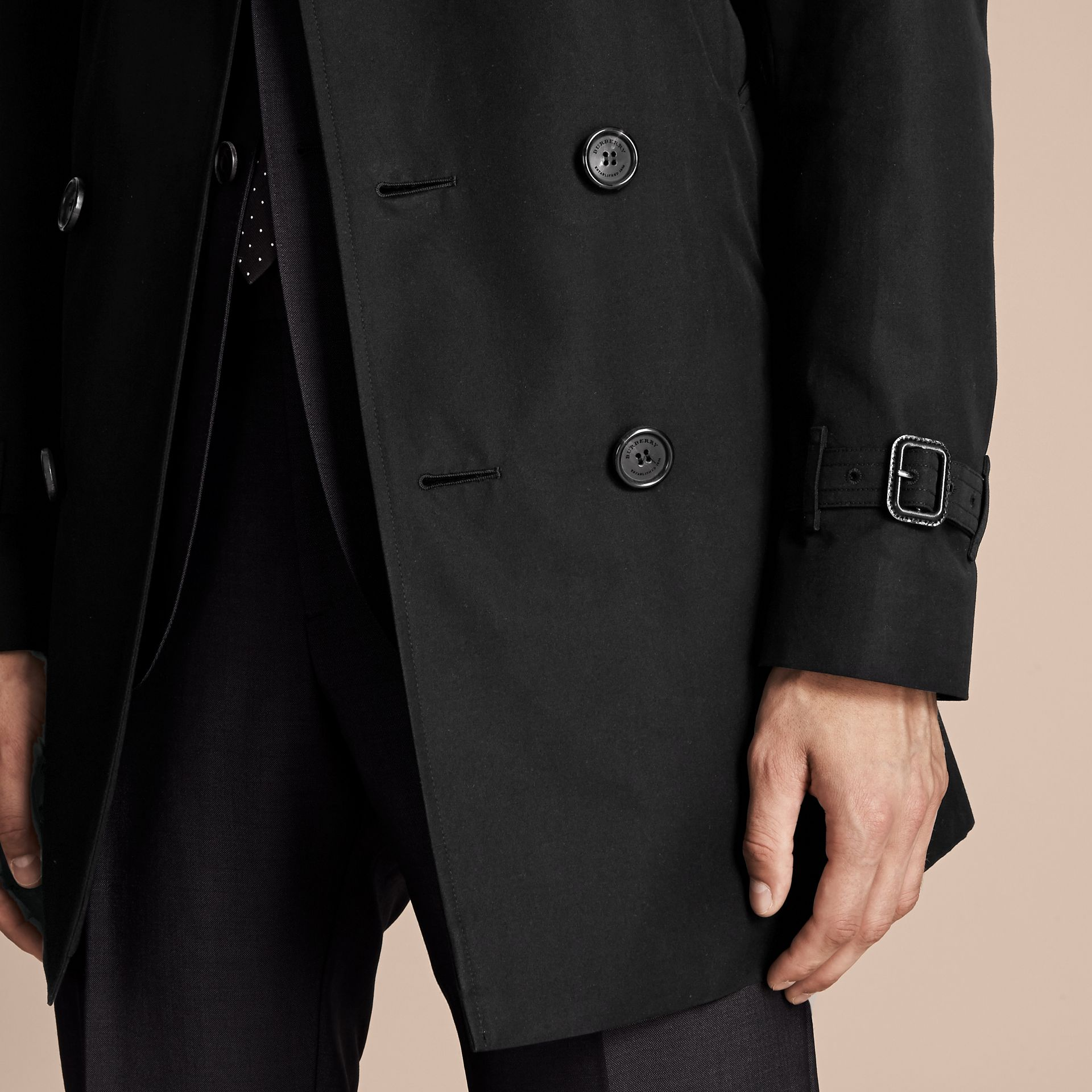 Black The Sandringham – Mid-length Heritage Trench Coat Black - gallery image 5
