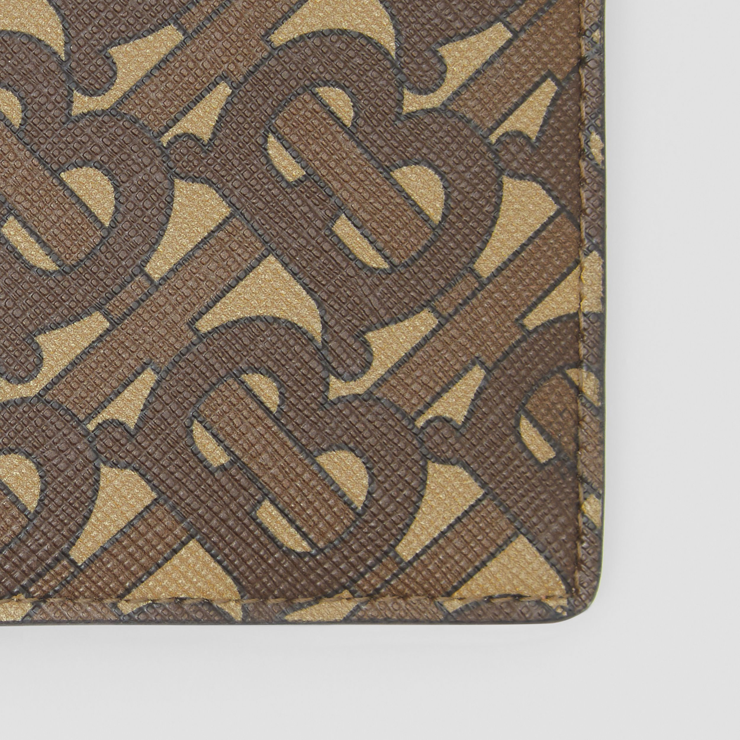 Monogram Print E-canvas Bifold Wallet in Bridle Brown - Men | Burberry - 2