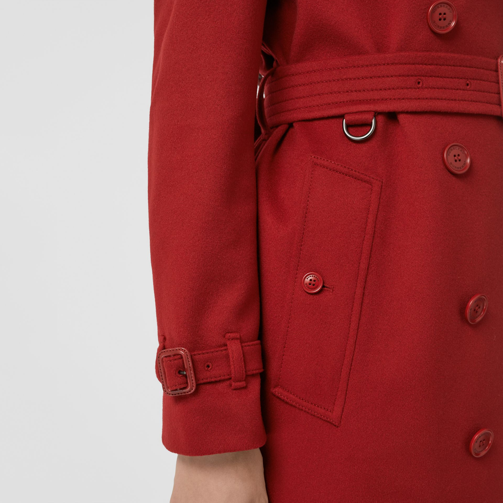 Cashmere Trench Coat in Red - Women | Burberry - gallery image 4