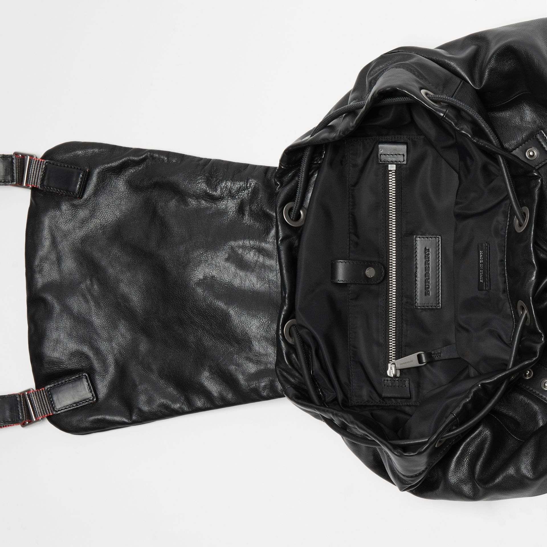 Sac The Rucksack extra-large en cuir nappa (Noir) - Homme | Burberry - photo de la galerie 5