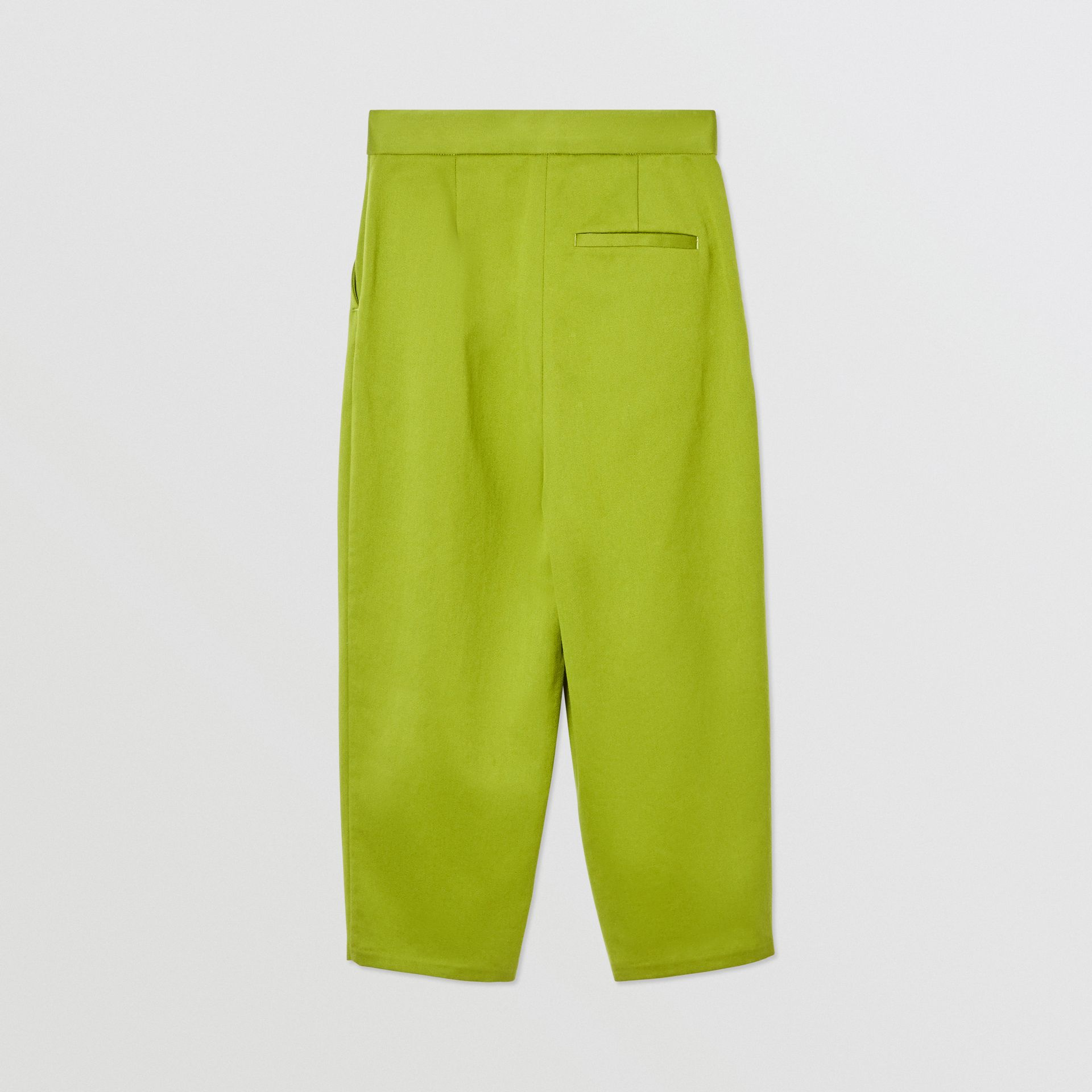 Cotton Sateen Tapered Trousers in Bright Green - Girl | Burberry - gallery image 3