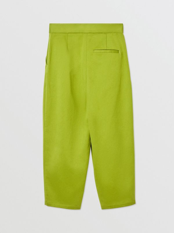Cotton Sateen Tapered Trousers in Bright Green - Girl | Burberry - cell image 3