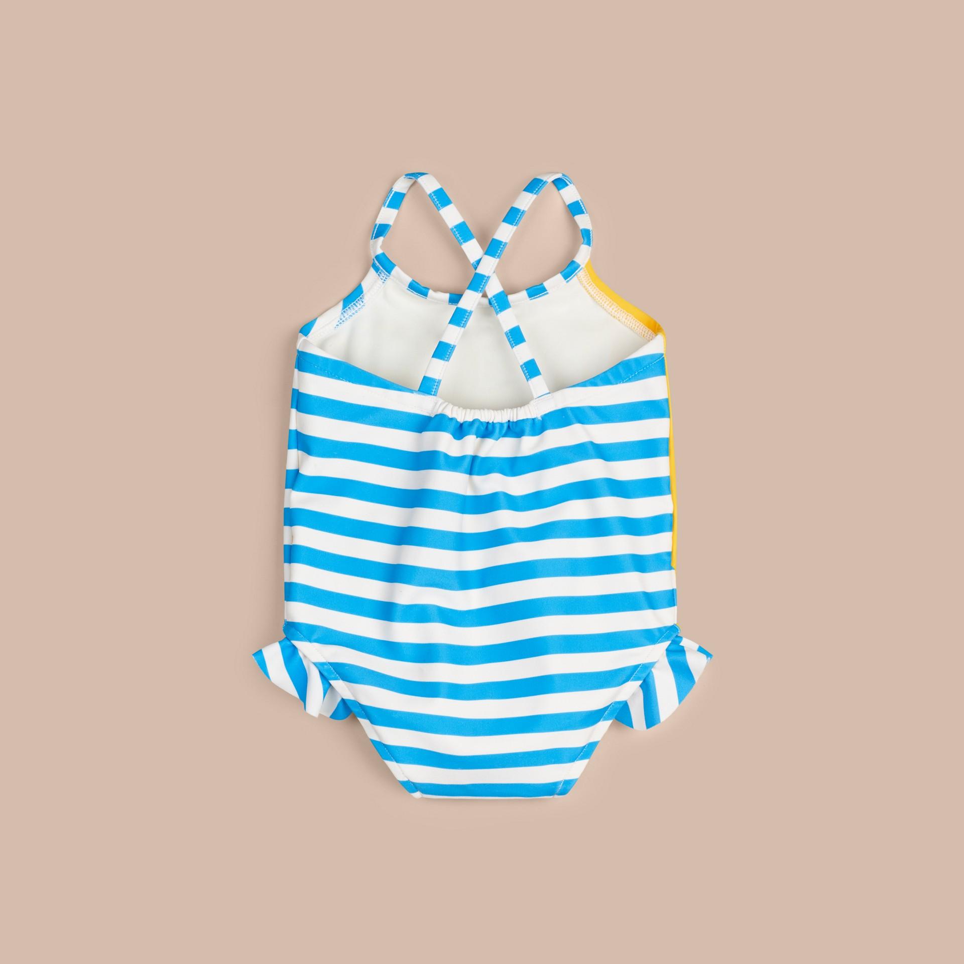 Blanc Maillot de bain une pièce à motif Hello Sunshine - photo de la galerie 2