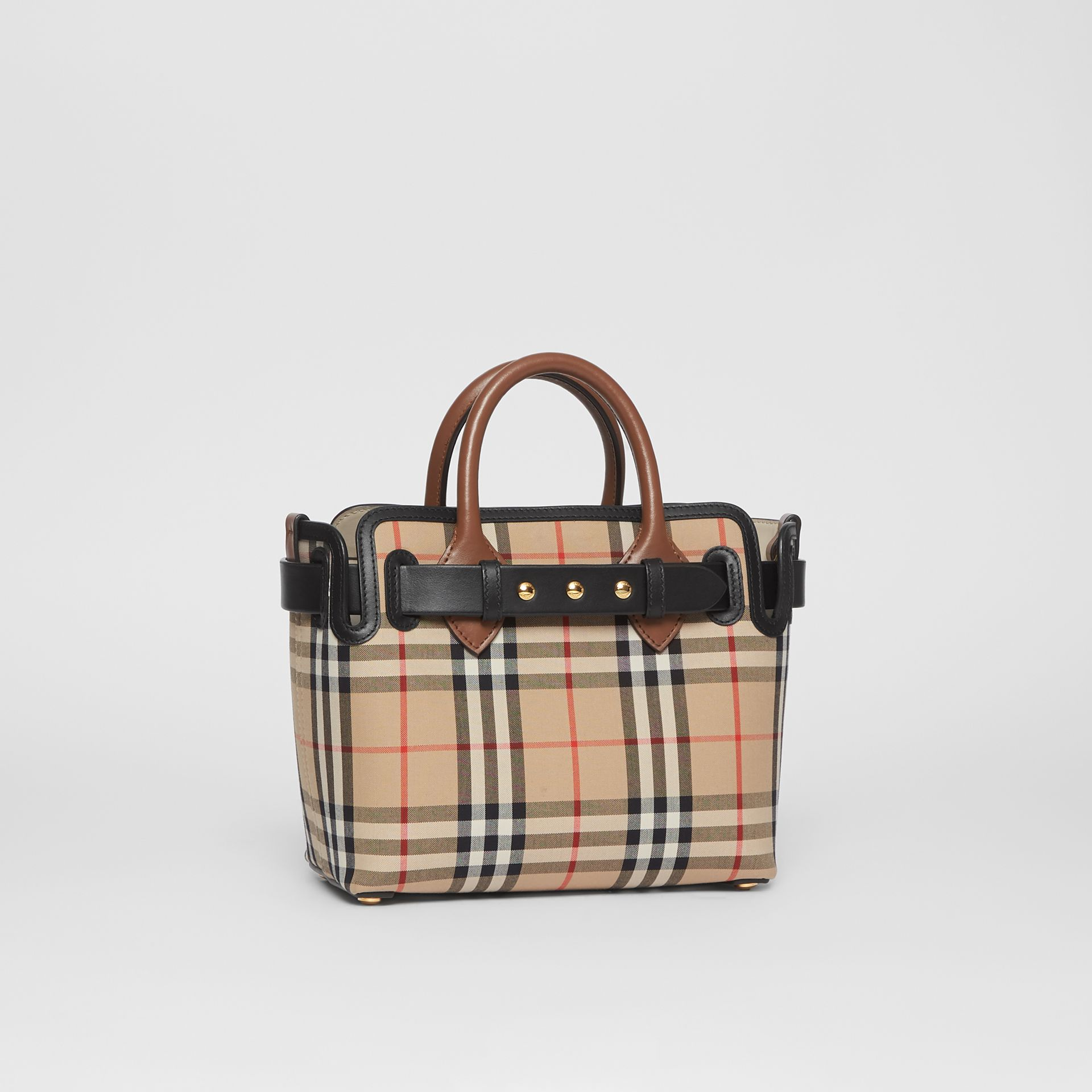 The Mini Vintage Check Triple Stud Belt Bag in Archive Beige - Women | Burberry - gallery image 6