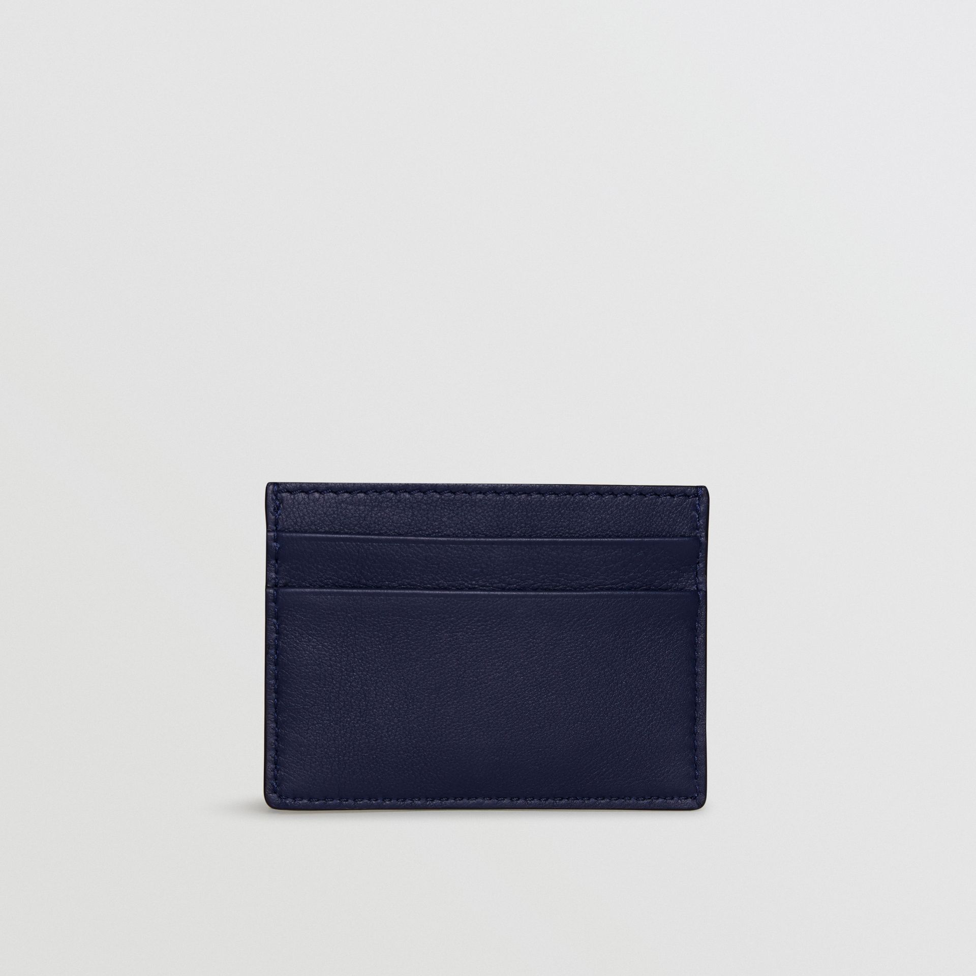 Embossed Crest Leather Card Case in Regency Blue | Burberry - gallery image 4
