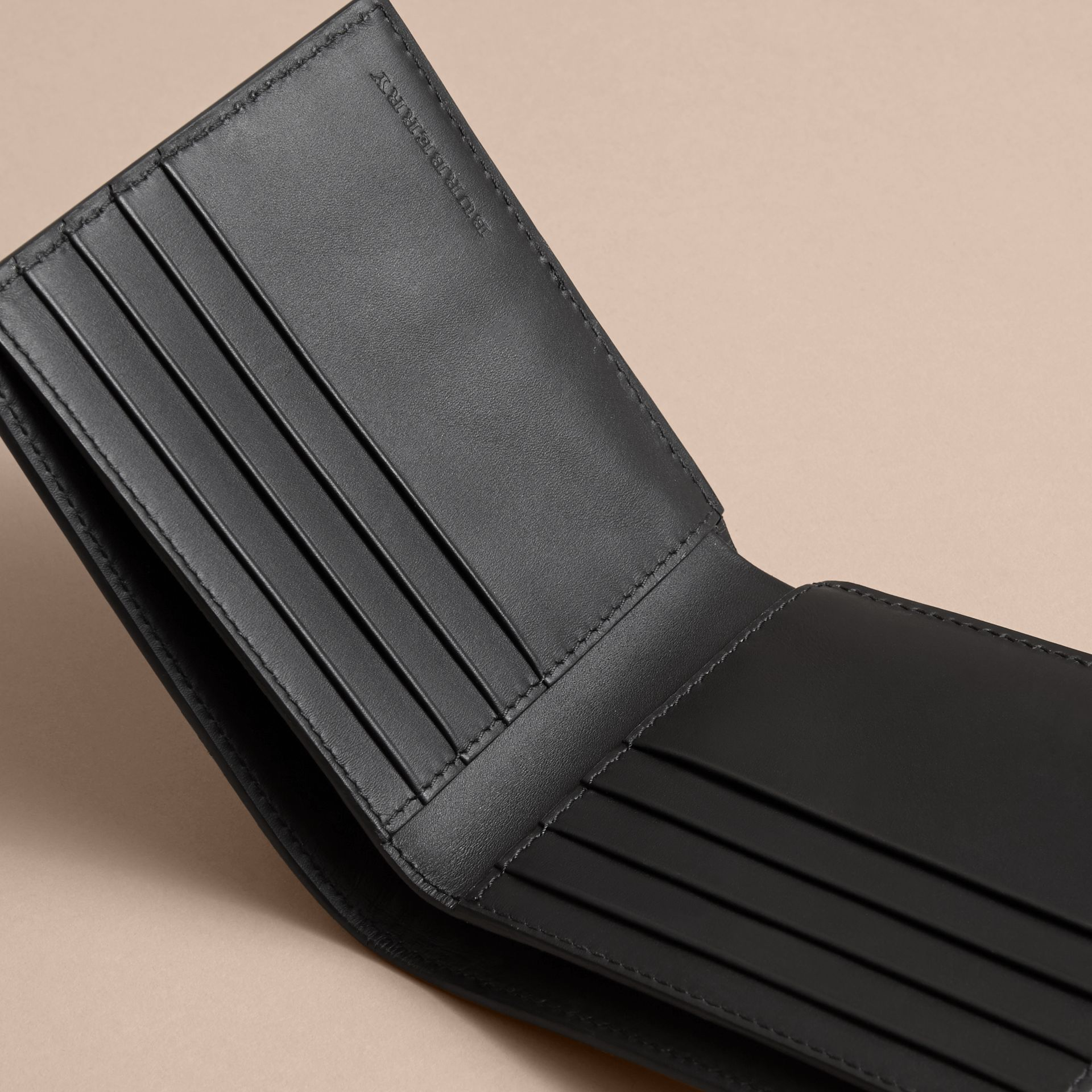 Pallas Heads Print Leather International Bifold Wallet in Black - Men | Burberry - gallery image 5
