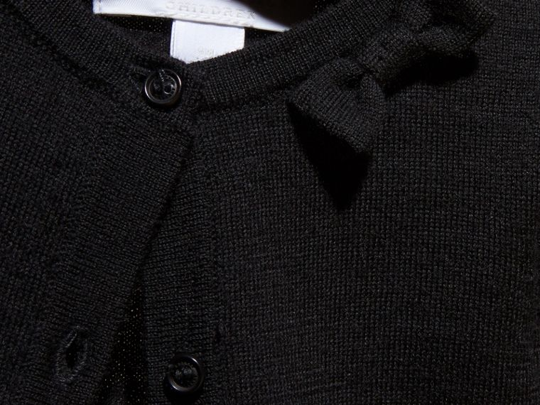 Black Lightweight Merino Wool Cardigan Black - cell image 1