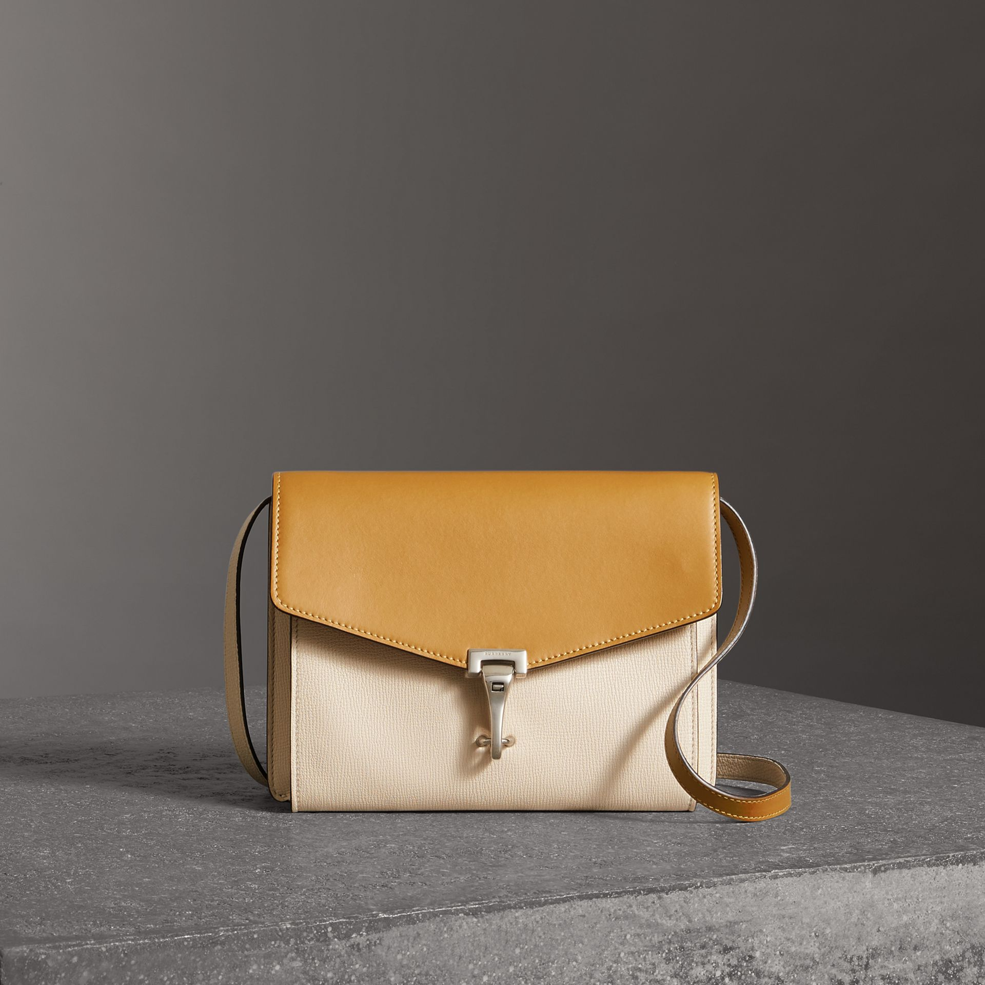 Two-tone Leather Crossbody Bag in Limestone/cornflower Yellow - Women | Burberry Singapore - gallery image 0