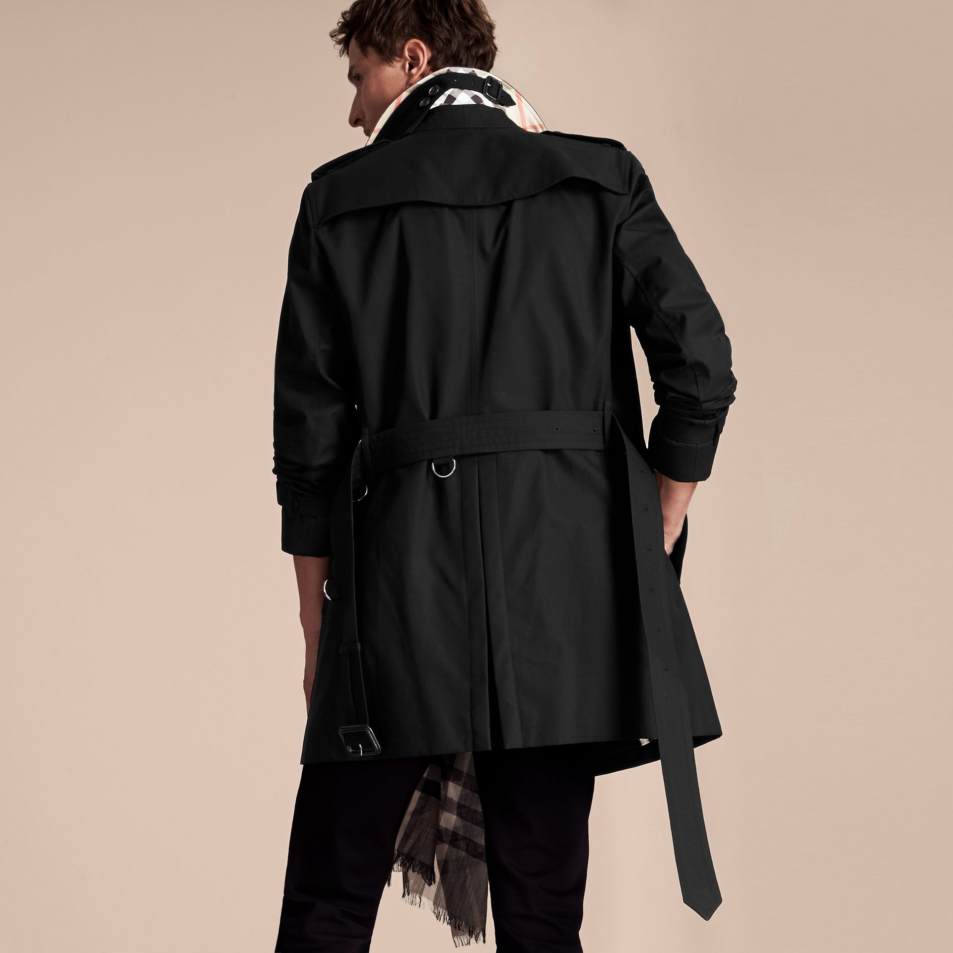 Noir Trench-coat Heritage mi-long The Chelsea Noir - photo de la galerie 3