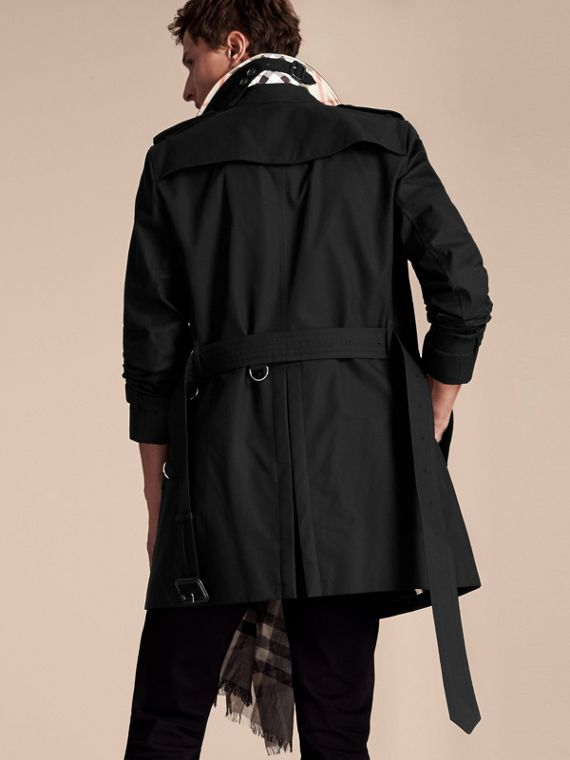 Black The Chelsea – Mid-length Heritage Trench Coat Black - cell image 2
