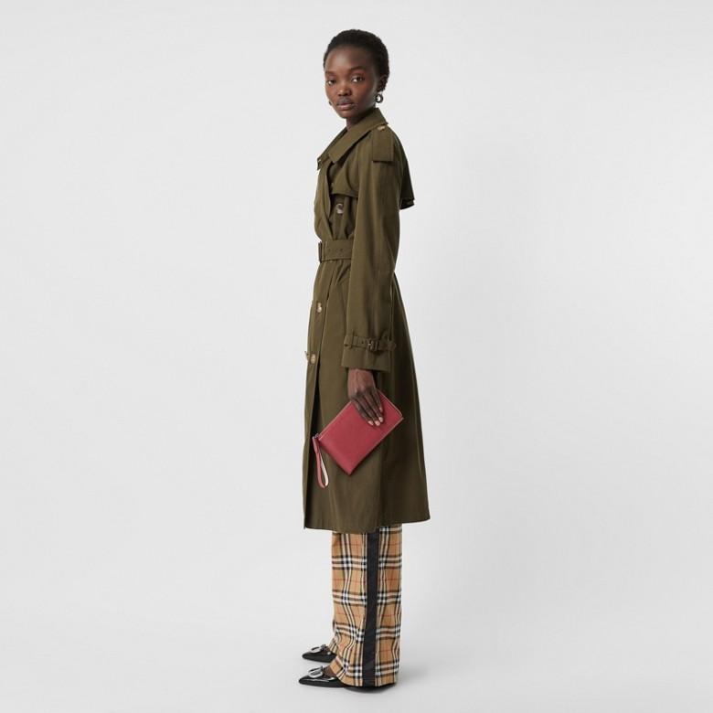 Burberry - Portefeuille de voyage en cuir grainé bicolore - 3