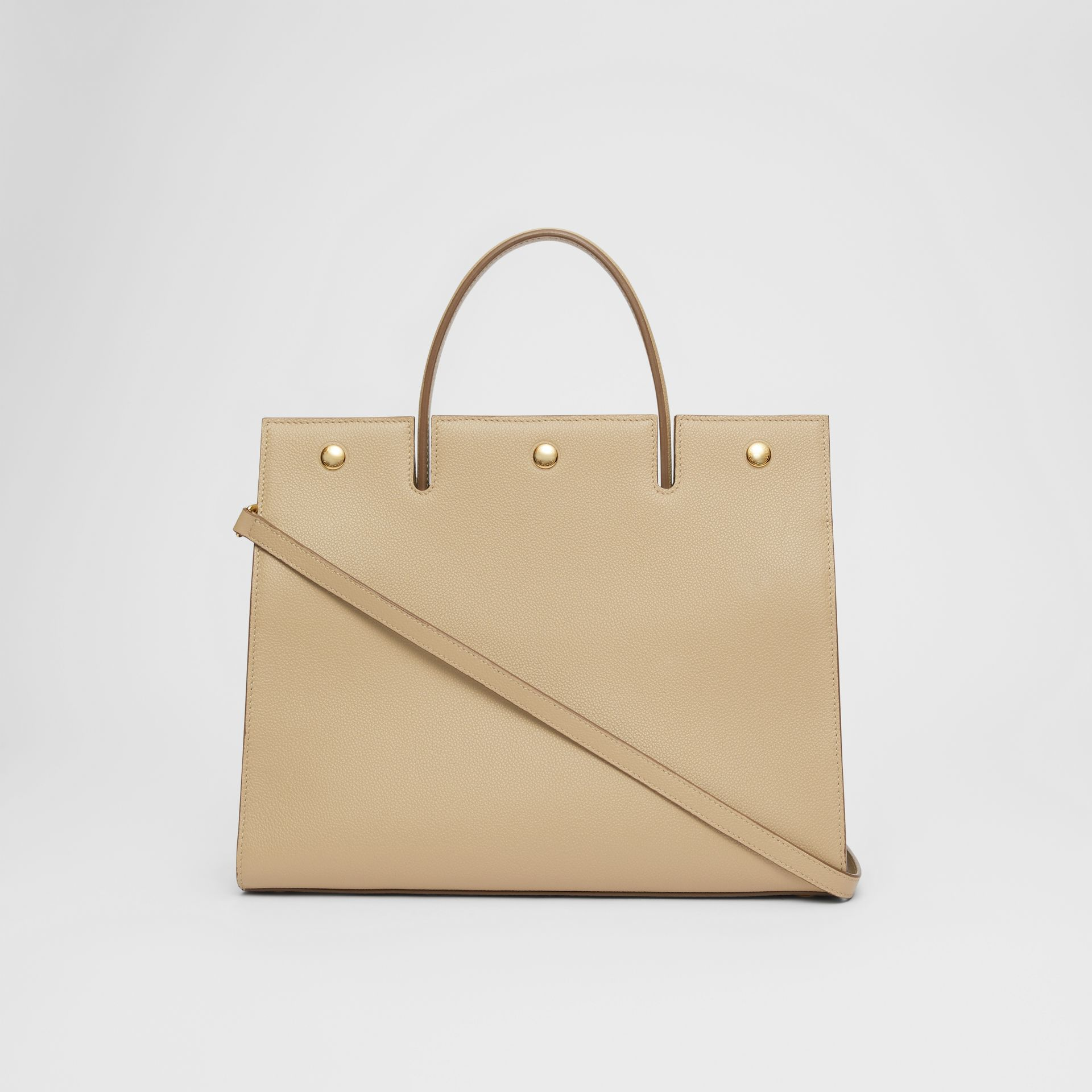 Medium Leather Title Bag in Honey - Women | Burberry United Kingdom - gallery image 7