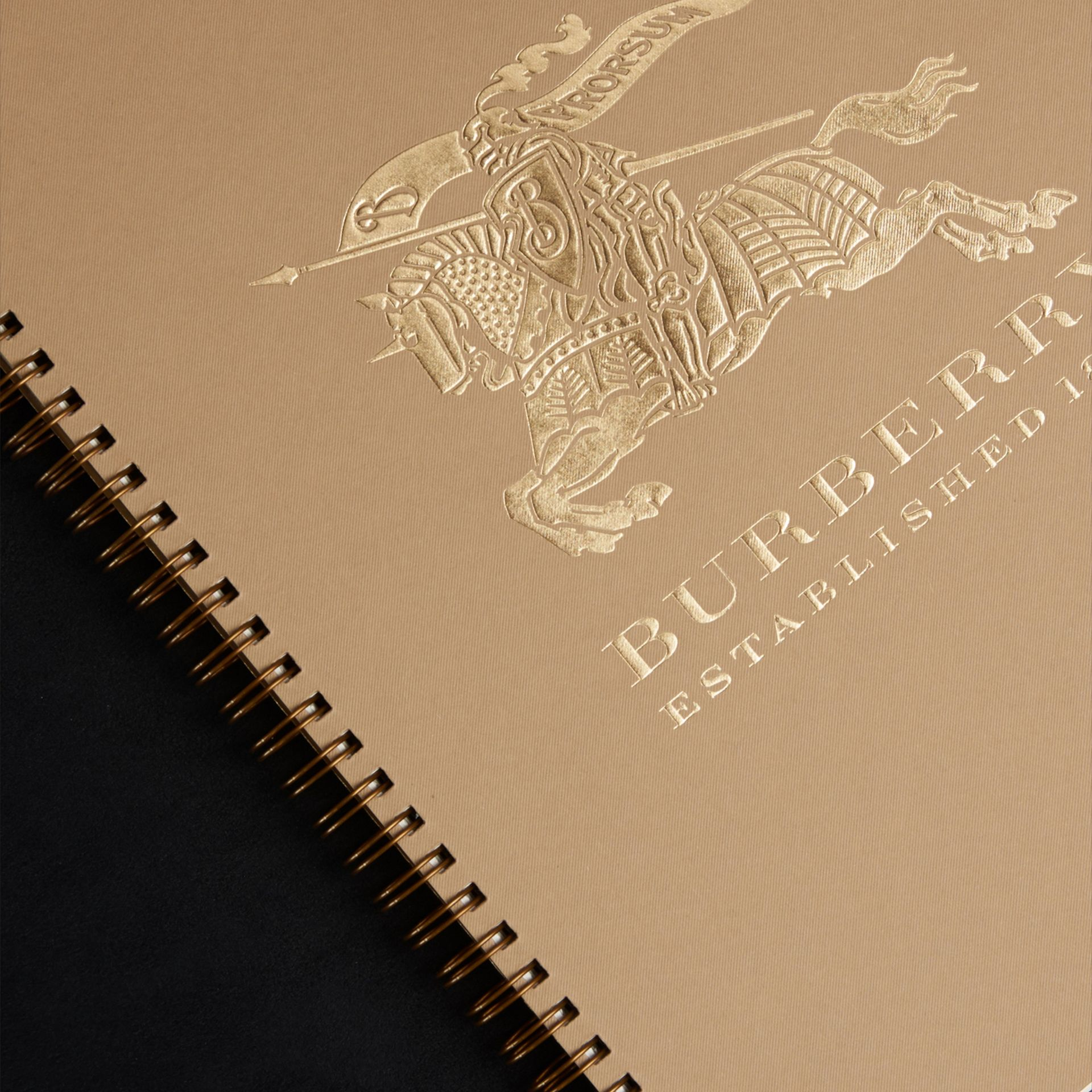 Grainy Leather A4 Notebook in Black | Burberry United Kingdom - gallery image 3