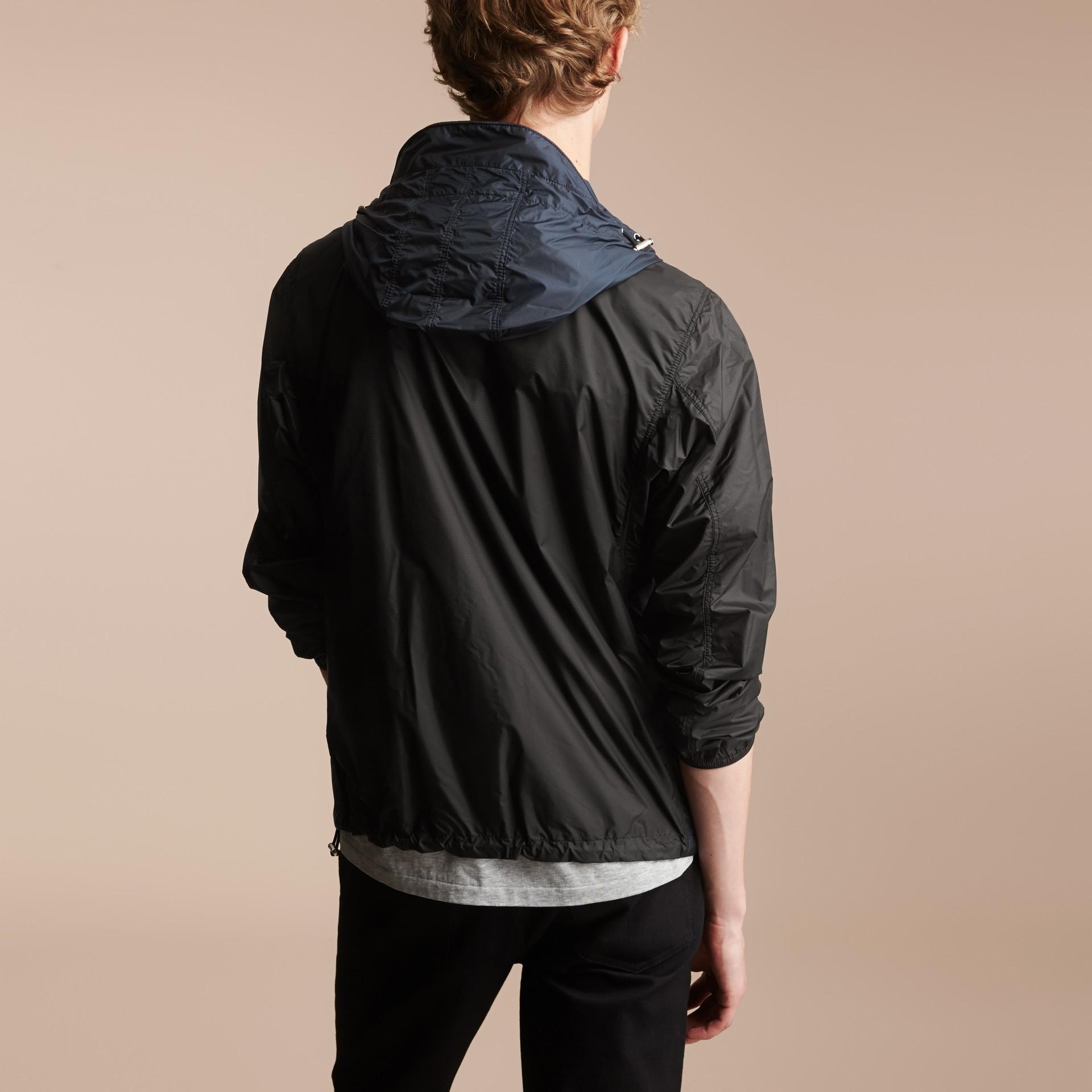 Two-tone Hooded Showerproof Jacket - gallery image 2