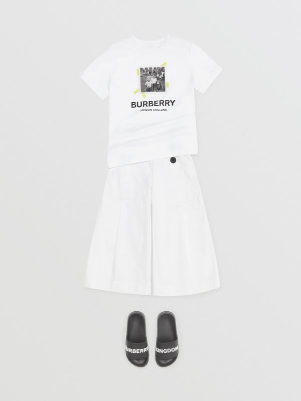 Vintage Photo Print Cotton T-Shirt in White | Burberry Singapore - cell image 3