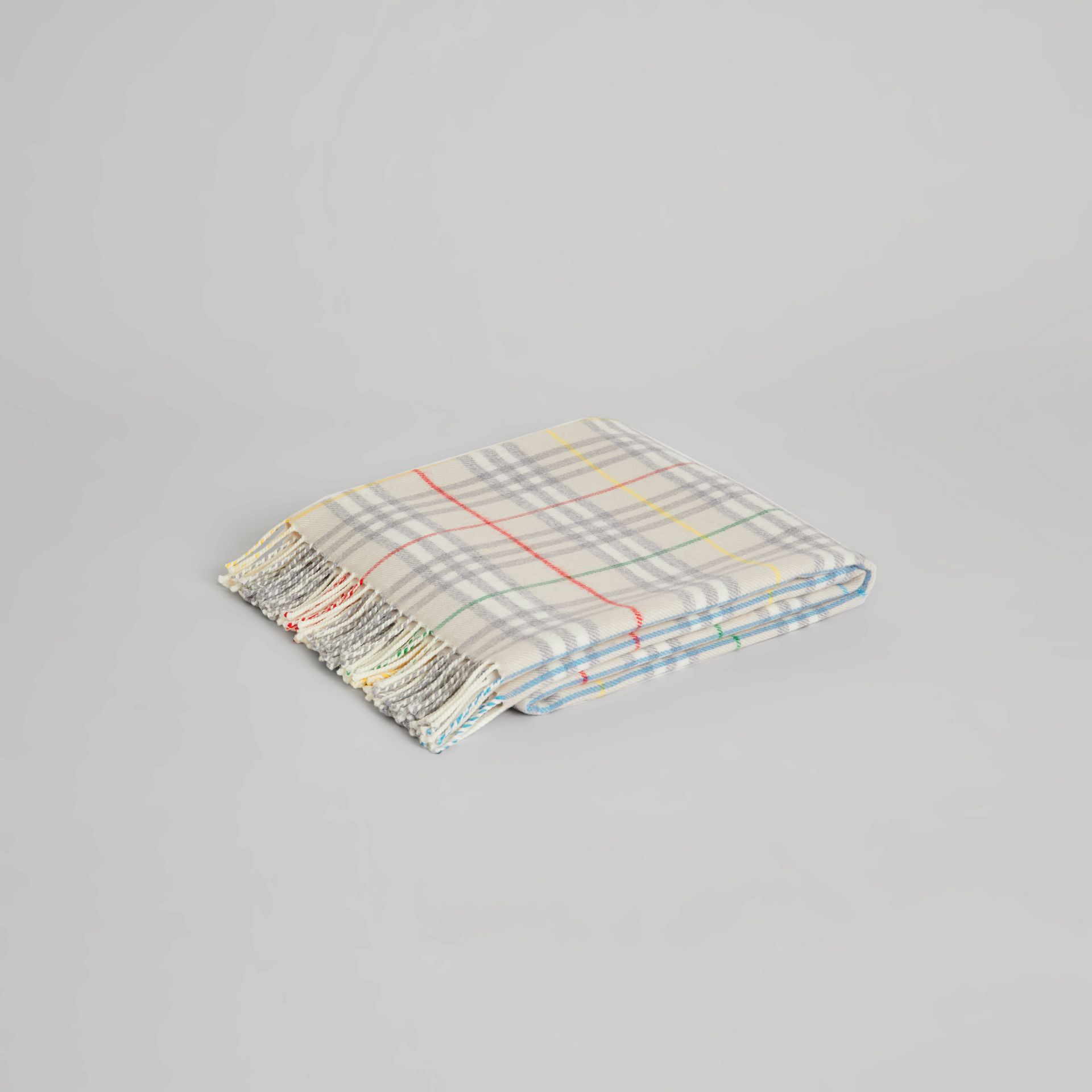 Check Merino Wool Baby Blanket in Multicolour - Children | Burberry Singapore - gallery image 0