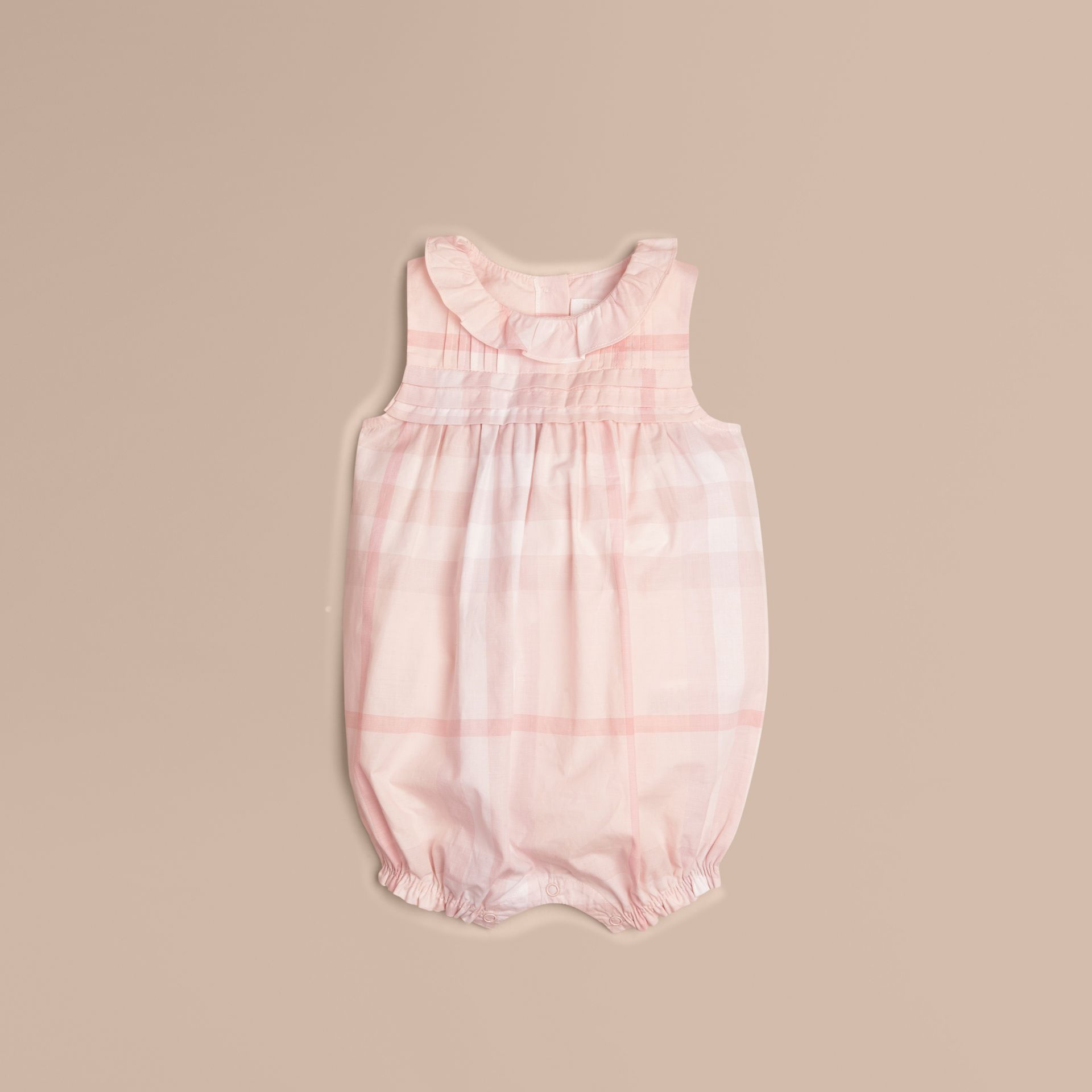 Ice pink Check Cotton Bodysuit - gallery image 1