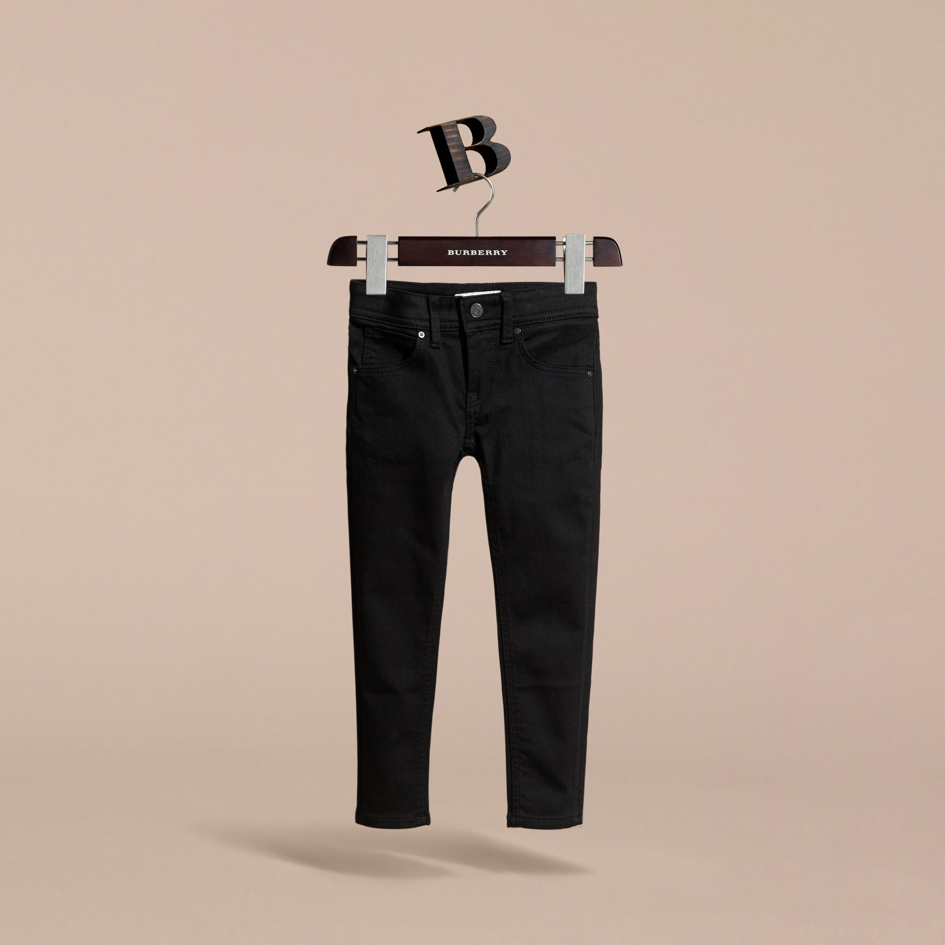 Skinny Fit Jeans in Black - Girl | Burberry Australia - gallery image 3