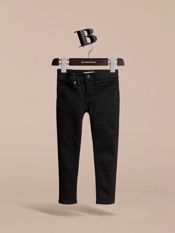 Skinny Fit Jeans in Black - Girl | Burberry - cell image 2