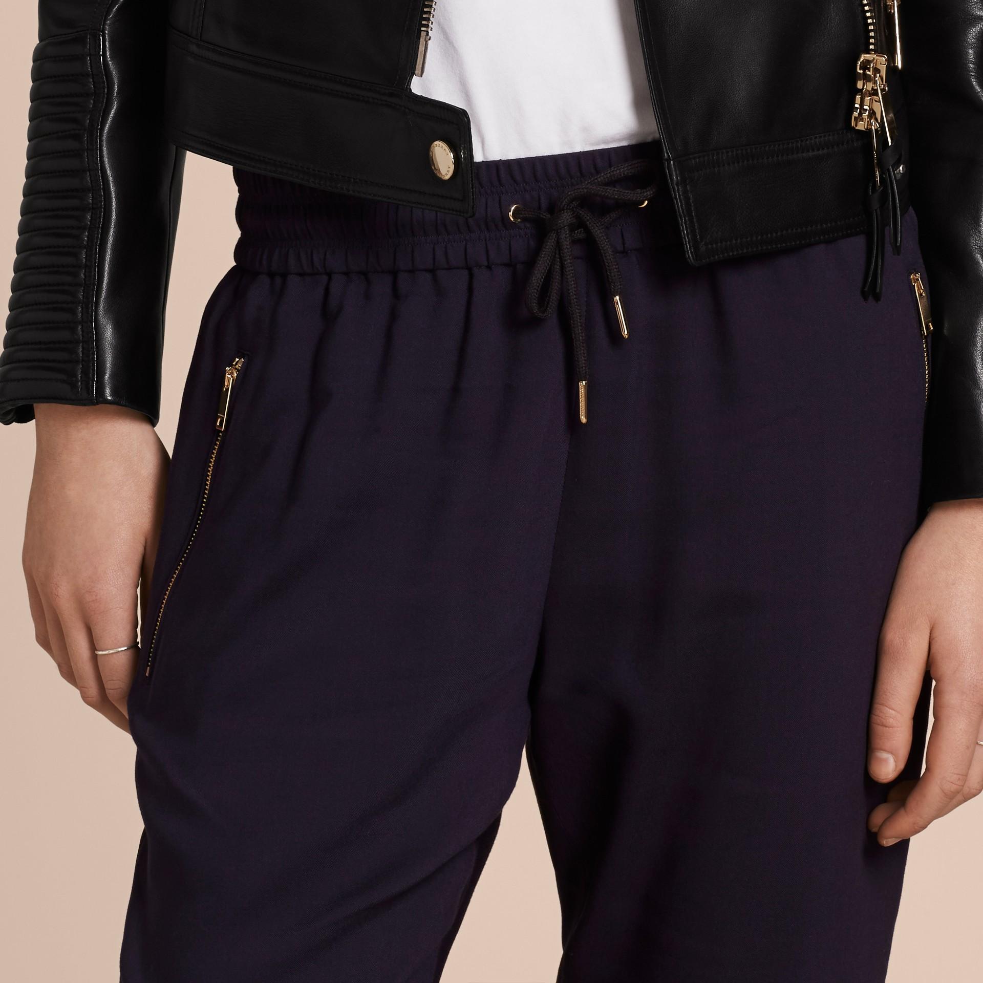 Zip Detail Jersey Sweat Pants Navy - gallery image 5