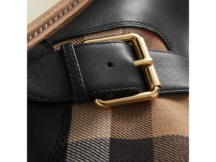 House Check and Leather Weather Boots in Classic | Burberry Canada - cell image 1