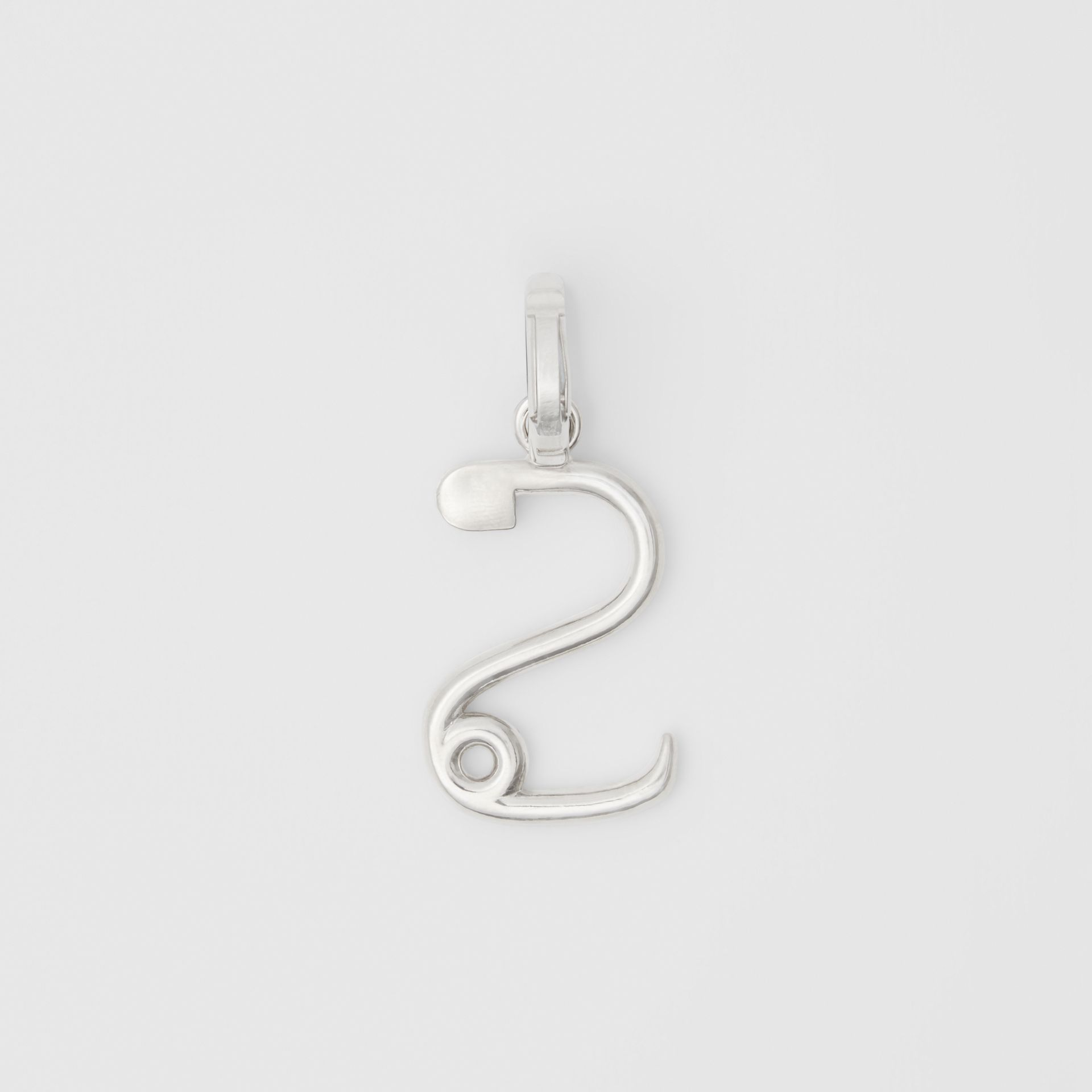 Kilt Pin 'S' Alphabet Charm in Palladio - Women | Burberry - gallery image 3