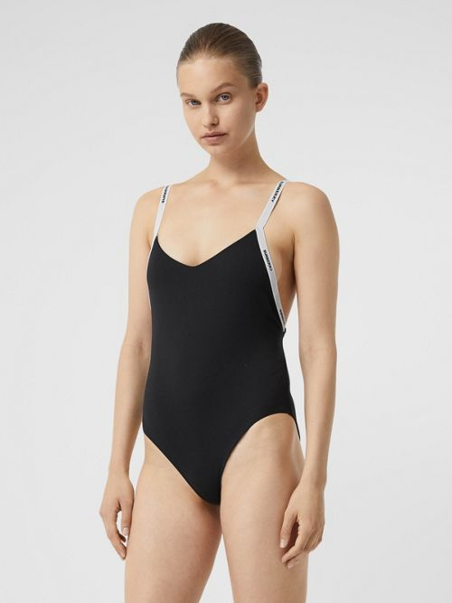 Burberry Suits LOGO TAPE SWIMSUIT