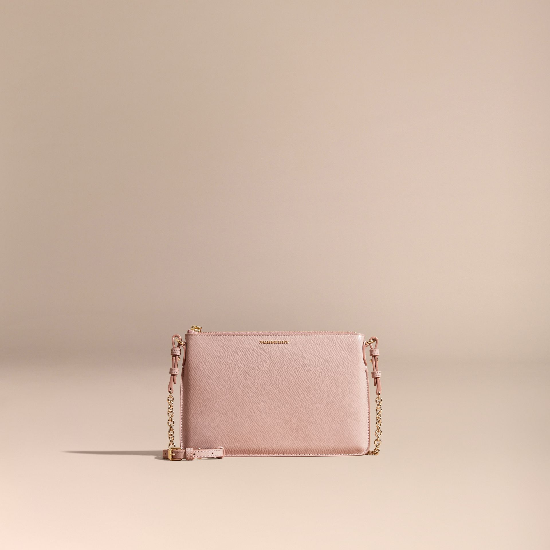 Ash rose Patent London Leather Clutch Bag Ash Rose - gallery image 9