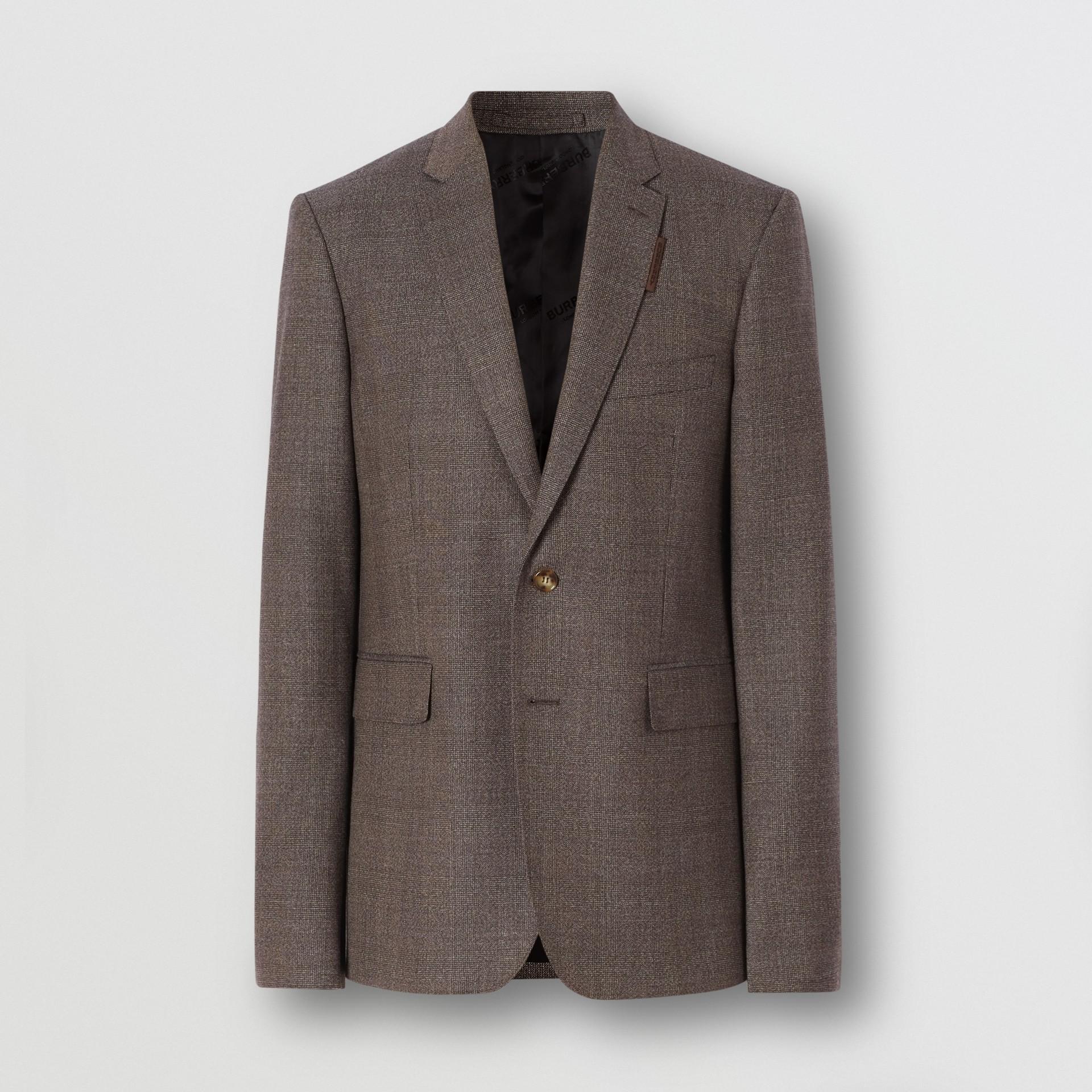 Slim Fit Wool Suit in Dark Brown - Men | Burberry - gallery image 3