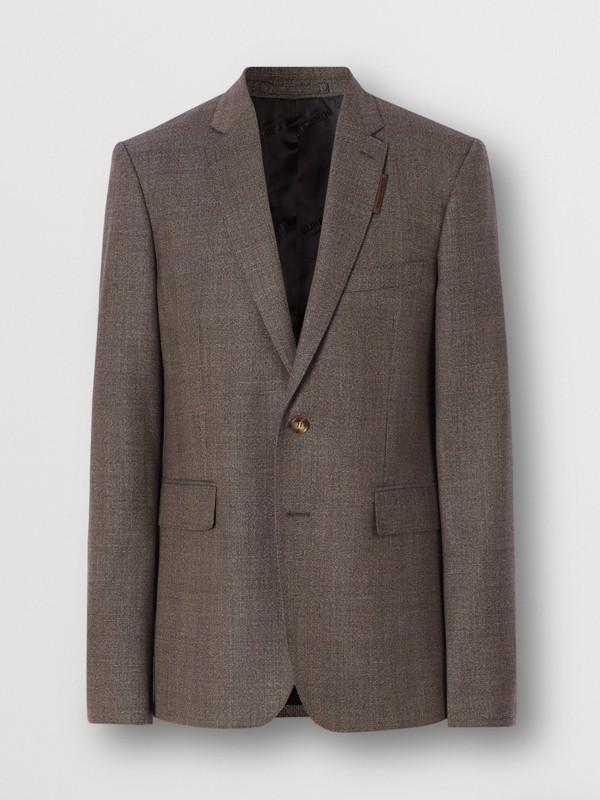 Slim Fit Wool Suit in Dark Brown - Men | Burberry - cell image 3