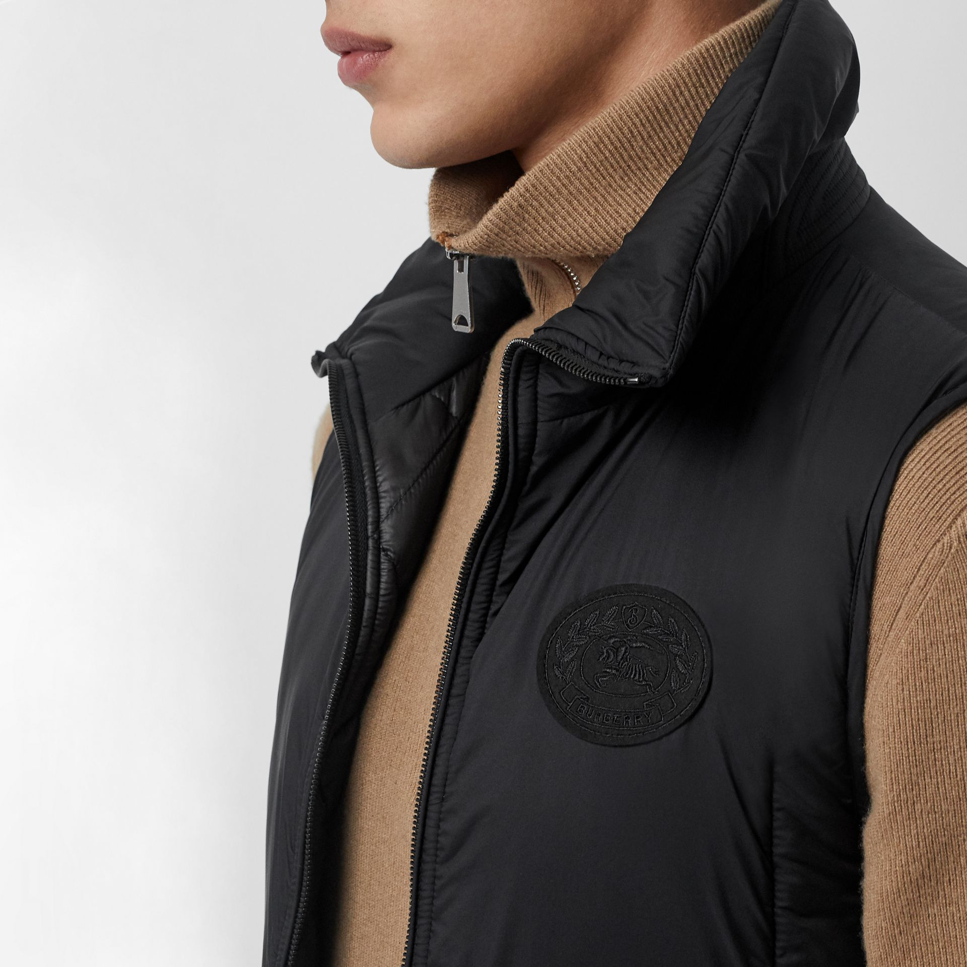 Check Car Coat with Detachable Gilet in Dark Camel - Men | Burberry United States - gallery image 5