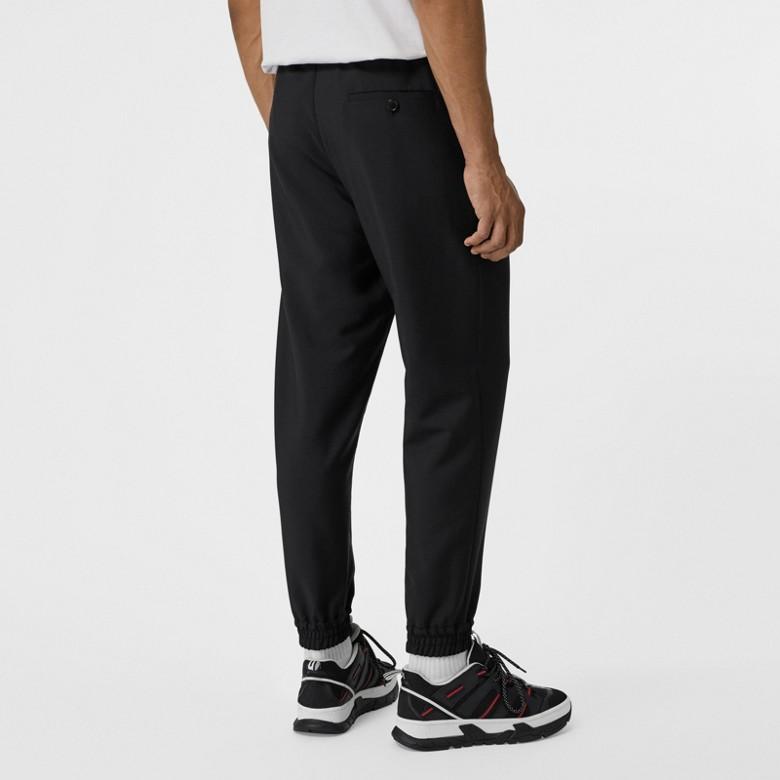 Burberry - Pantalon de survêtement en laine et mohair avec logo - 3