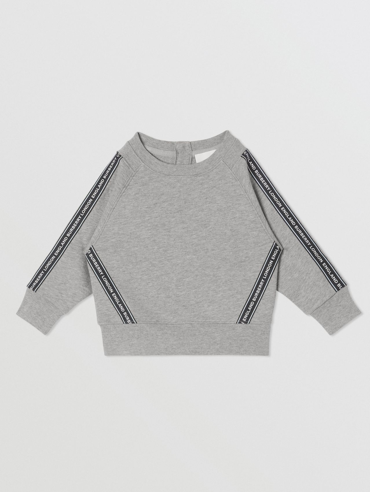 Logo Tape Cotton Sweatshirt (Grey Melange)