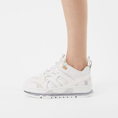 Nylon and Leather Union Sneakers in
