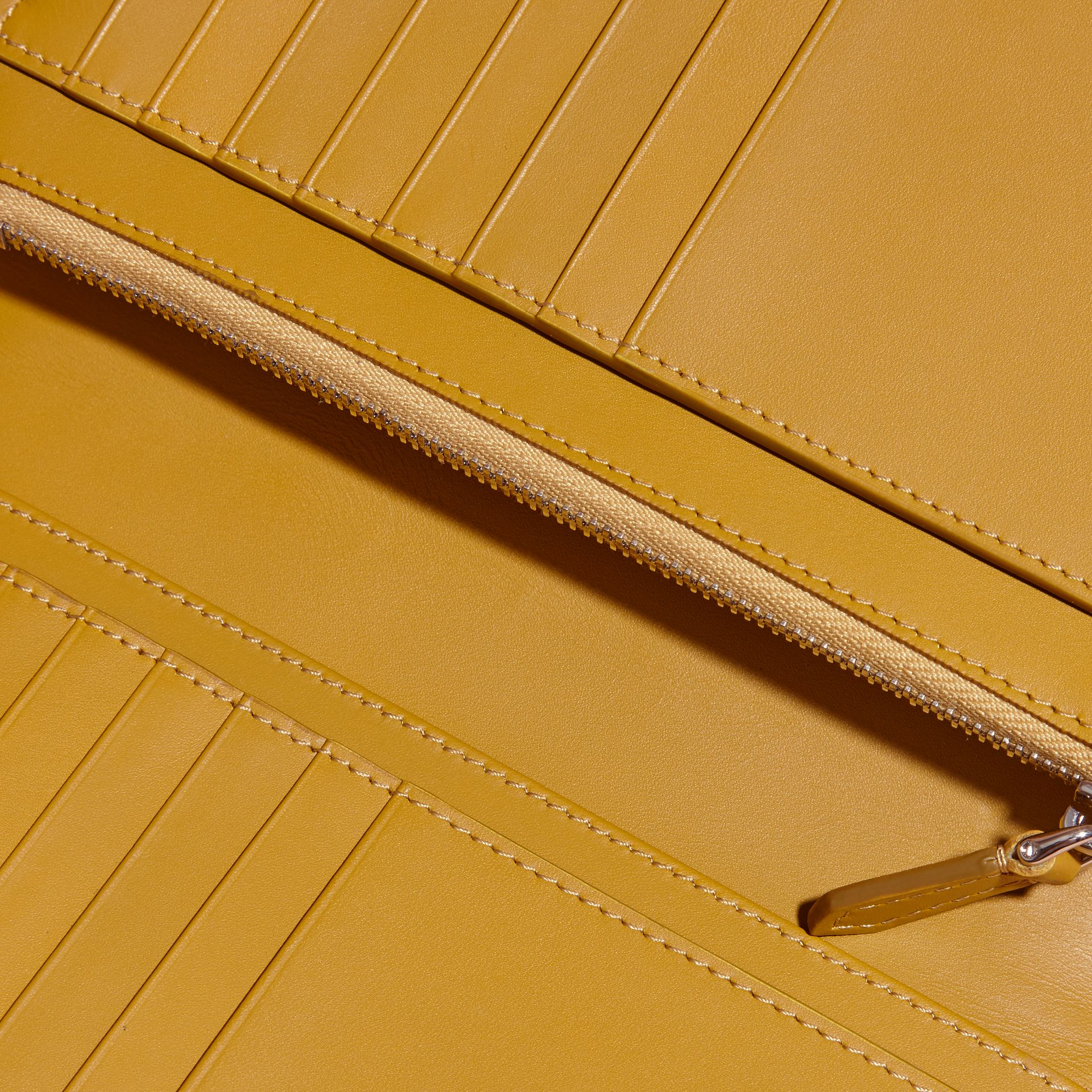 Border Detail London Leather Continental Wallet in Peppercorn - gallery image 2
