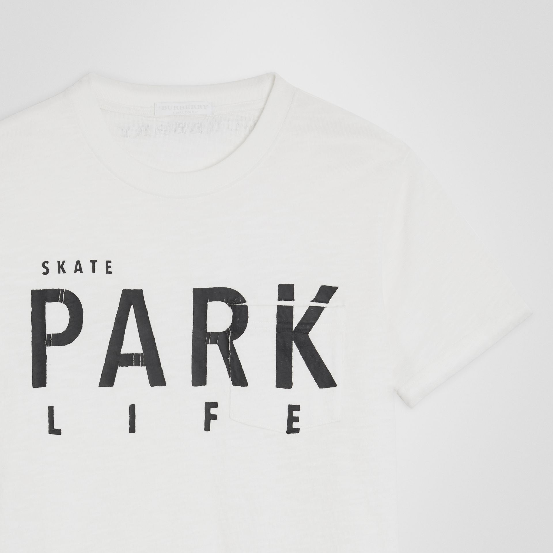 Skate Park Life Cotton T-shirt in White - Children | Burberry - gallery image 4