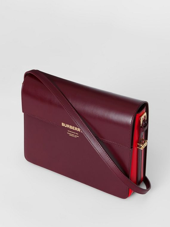 Grand sac Grace en cuir bicolore (Oxblood/rouge Militaire Vif)