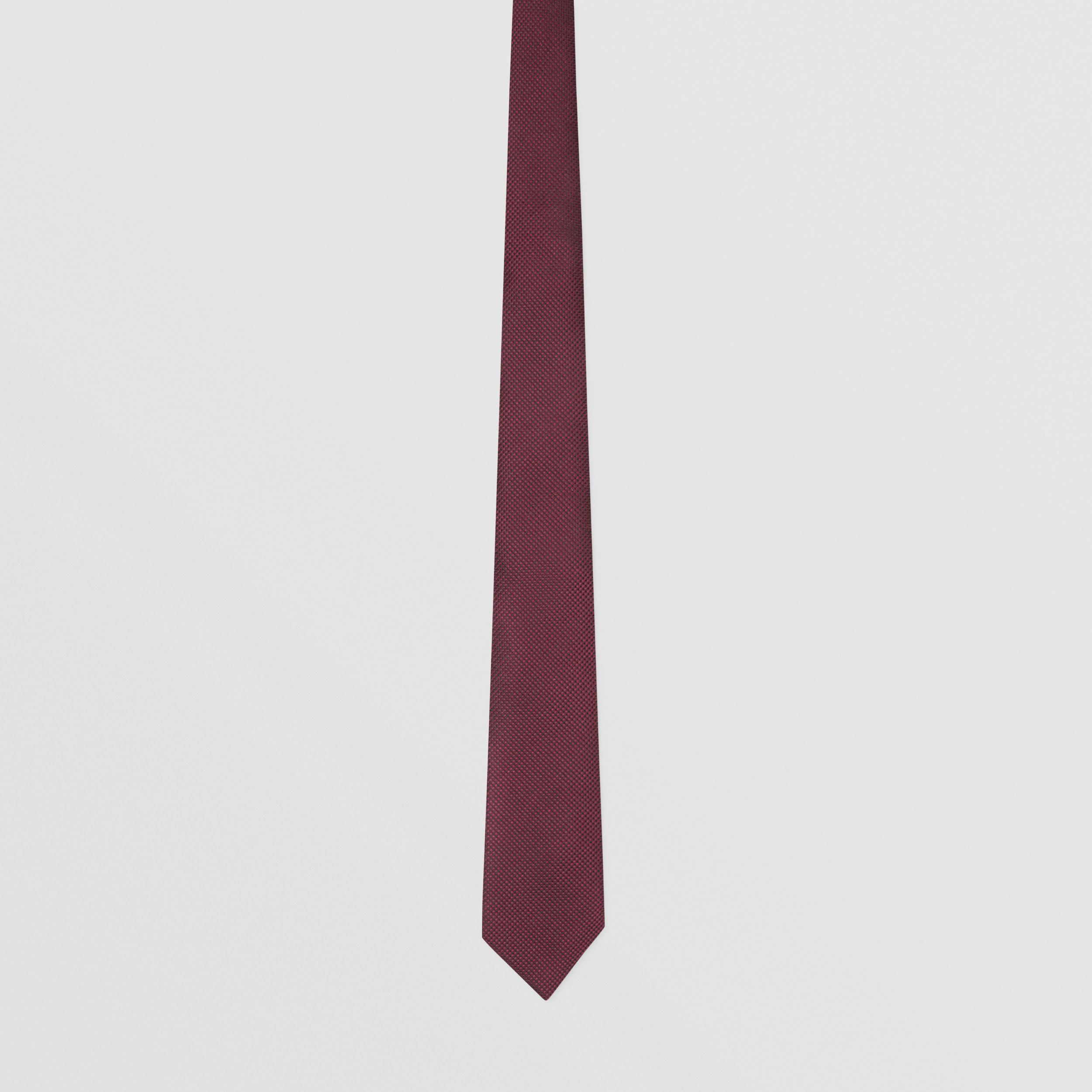 Classic Cut Woven Silk Tie in Dark Plum - Men | Burberry Hong Kong S.A.R. - 4