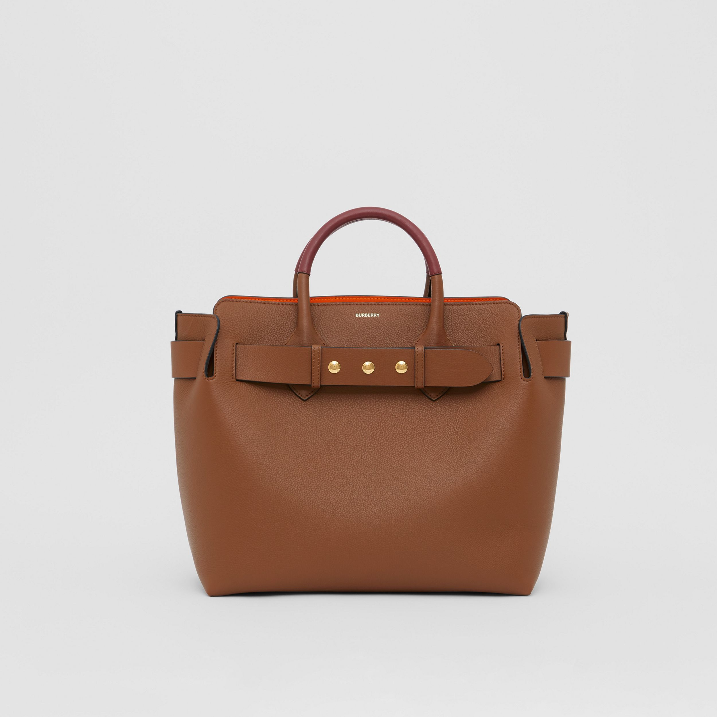 The Medium Leather Triple Stud Belt Bag in Tan - Women | Burberry - 1