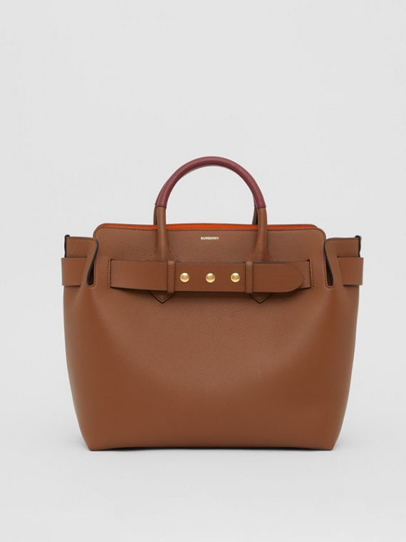 The Medium Leather Triple Stud Belt Bag in Tan