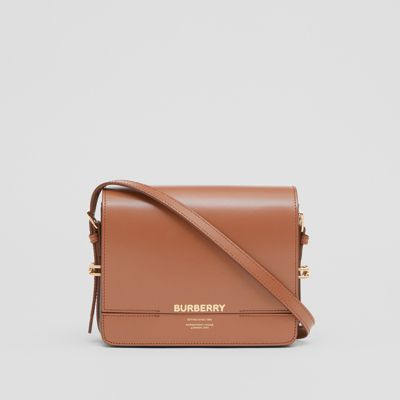 Small Two Tone Leather Grace Bag by Burberry