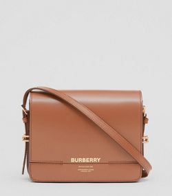 Small Two-tone Leather Grace Bag in Malt Brown black 0f22f6b318d86