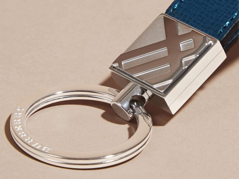 Mineral blue London Leather Key Ring Mineral Blue - cell image 1